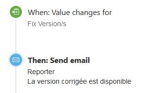 Exemple notifications par mail avec le plugin Automation for Jira